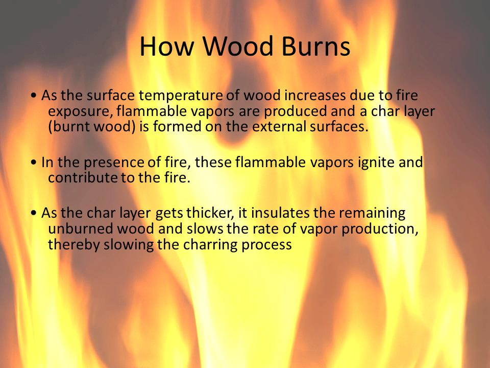 How Wood Burns