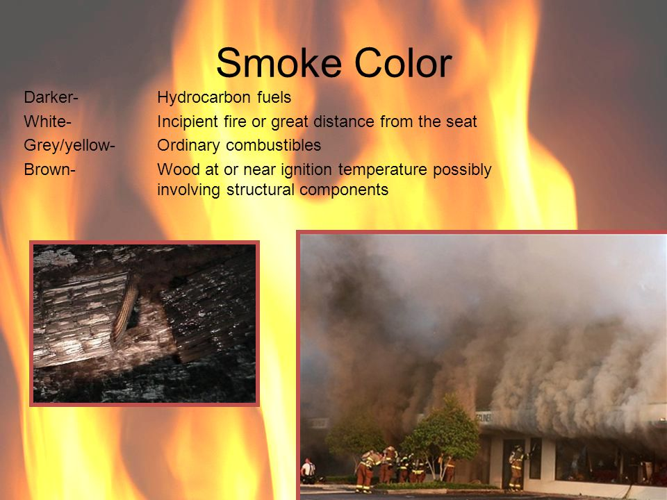 Smoke Color Darker- Hydrocarbon fuels