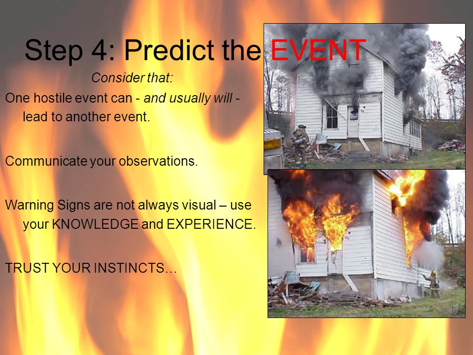 Step 4: Predict the EVENT