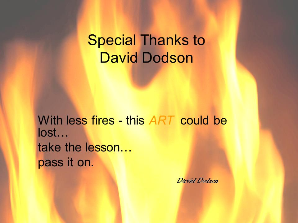Special Thanks to David Dodson