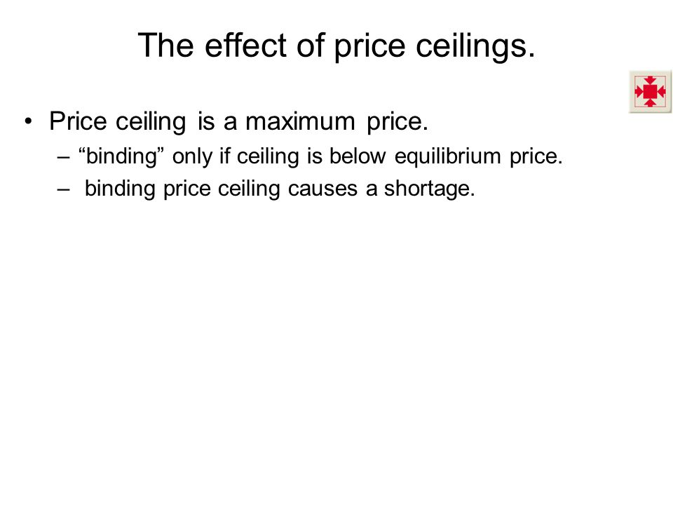 The effect of price ceilings.