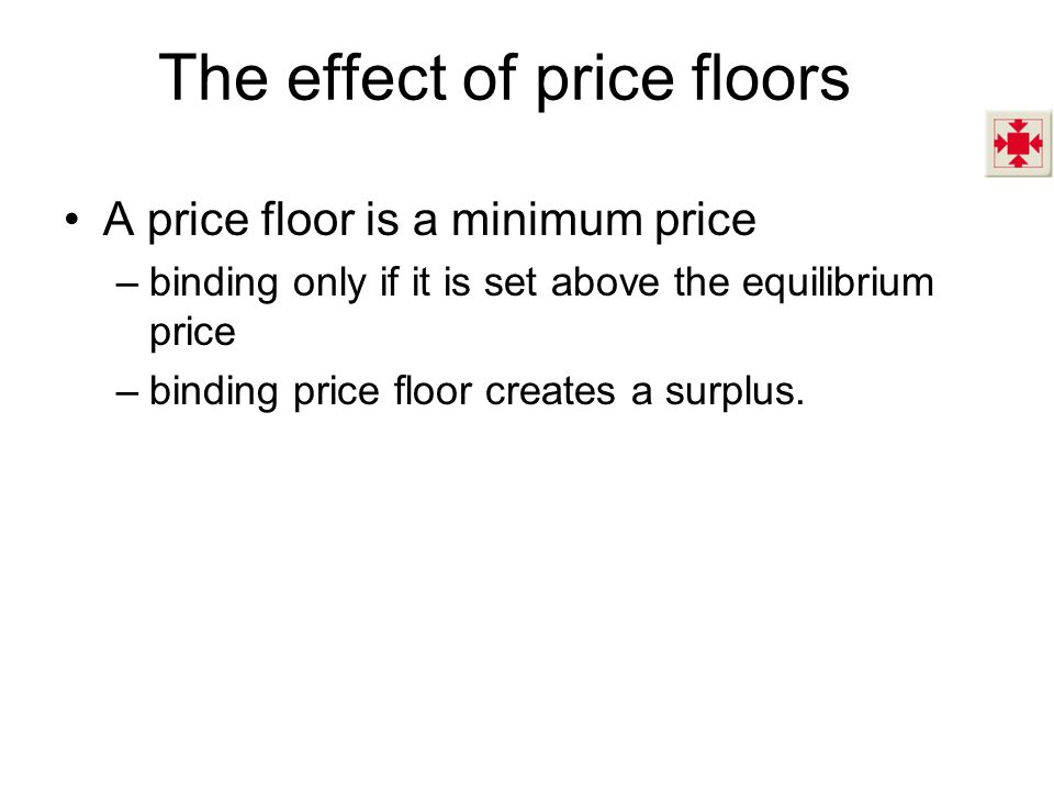 The effect of price floors