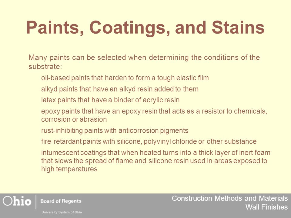 Paints, Coatings, and Stains