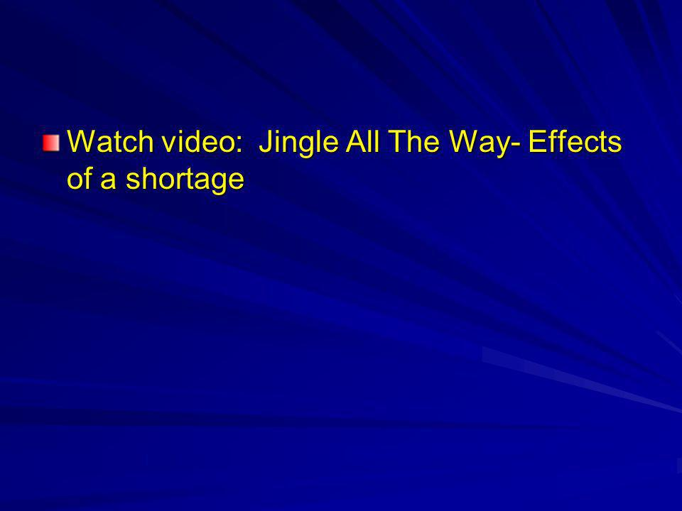 Watch video: Jingle All The Way- Effects of a shortage
