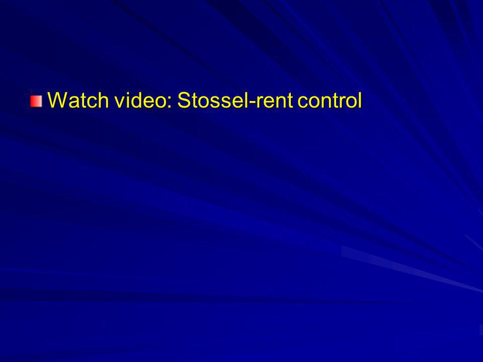 Watch video: Stossel-rent control