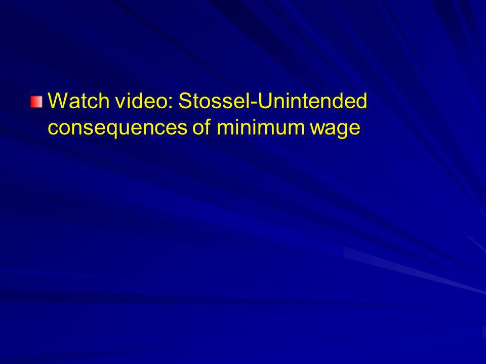 Watch video: Stossel-Unintended consequences of minimum wage