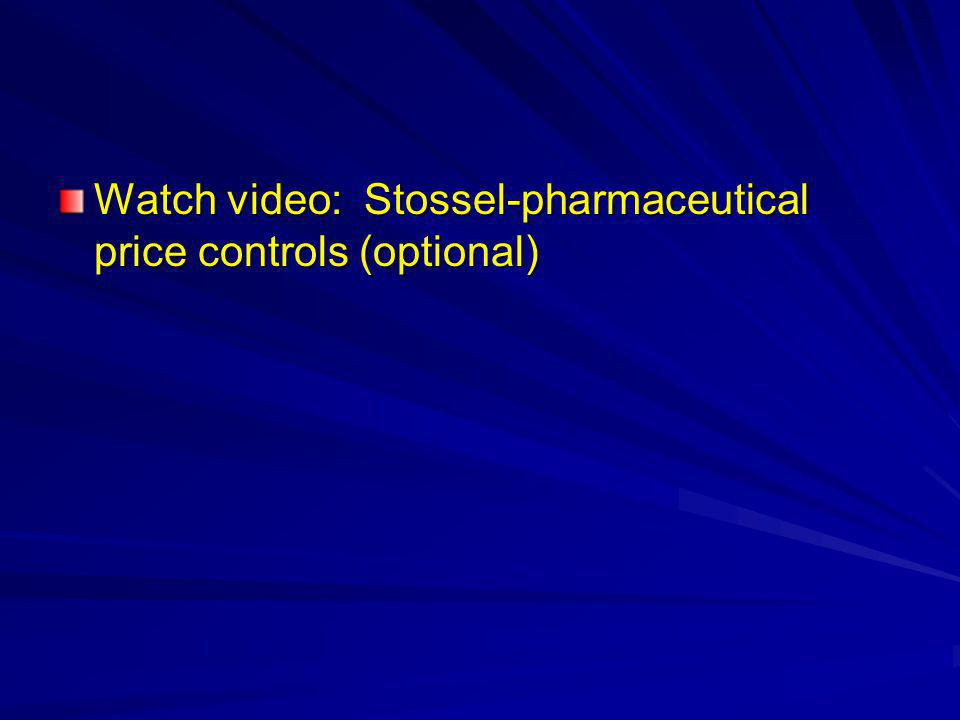Watch video: Stossel-pharmaceutical price controls (optional)