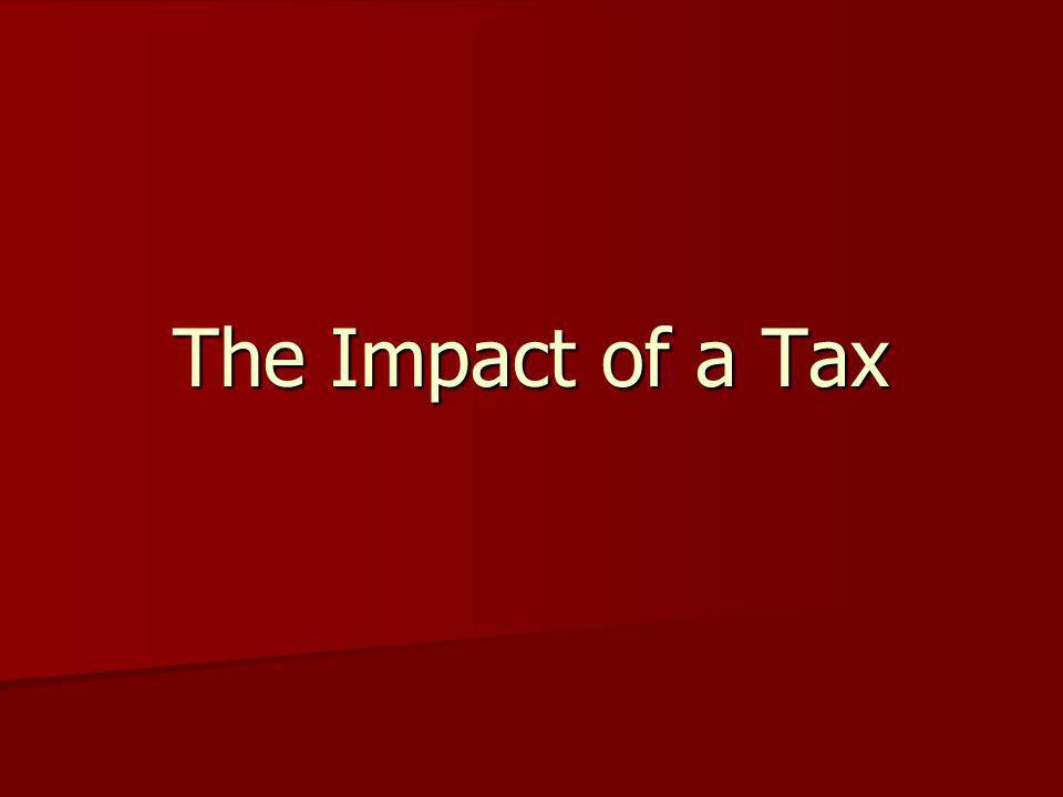 The Impact of a Tax