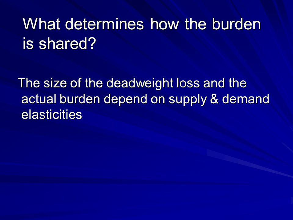 What determines how the burden is shared