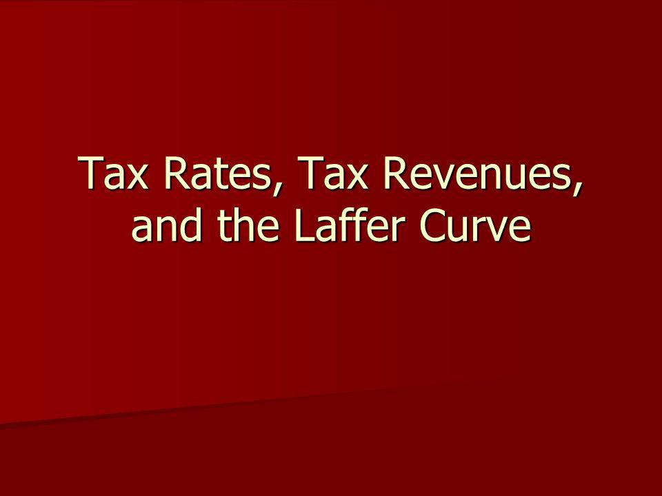Tax Rates, Tax Revenues, and the Laffer Curve