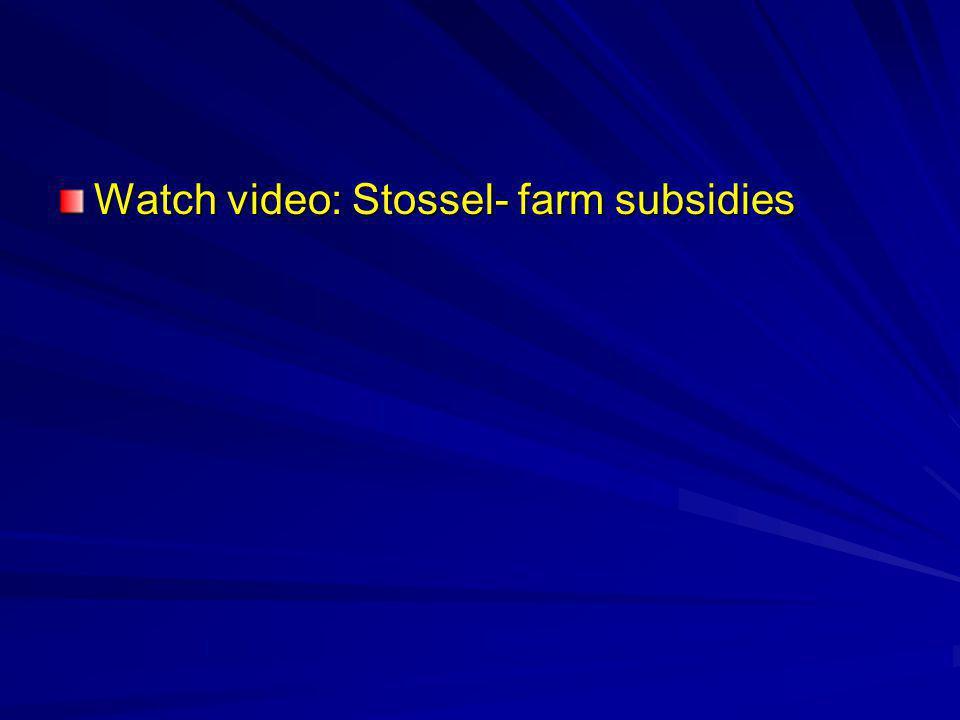 Watch video: Stossel- farm subsidies