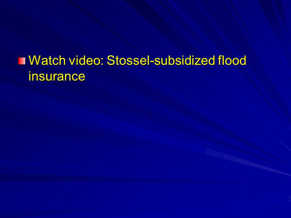 Watch video: Stossel-subsidized flood insurance
