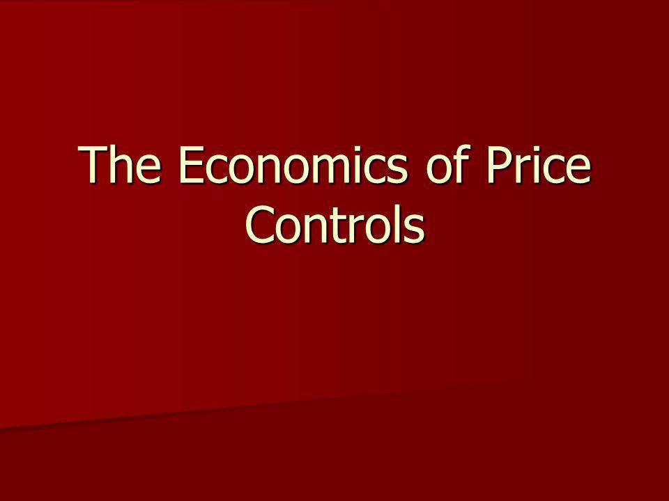 The Economics of Price Controls