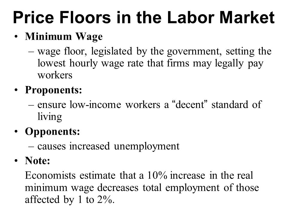 EXAMPLE 2: The Market for Unskilled Labor