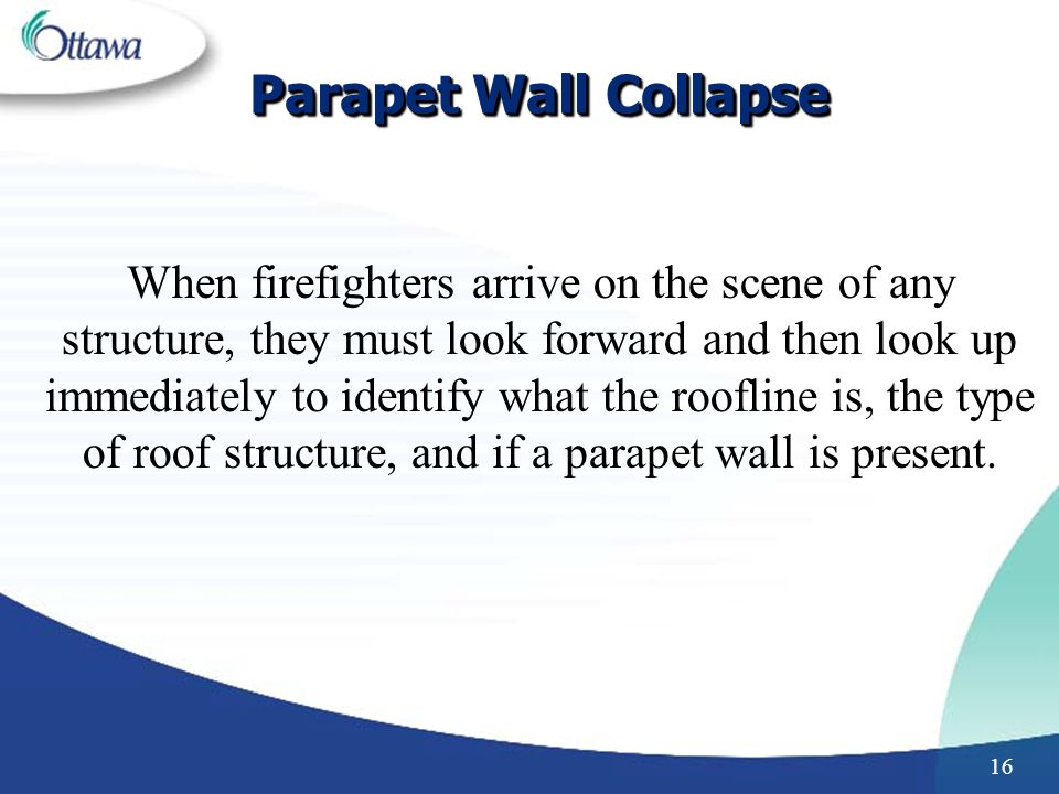 Parapet Wall Collapse