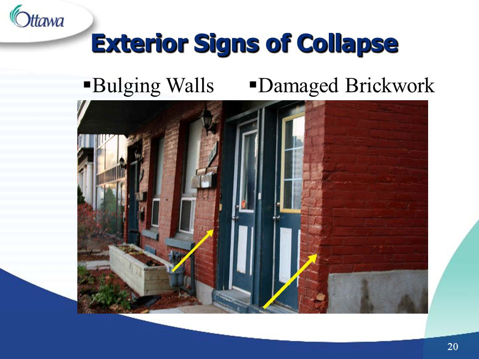 Exterior Signs of Collapse