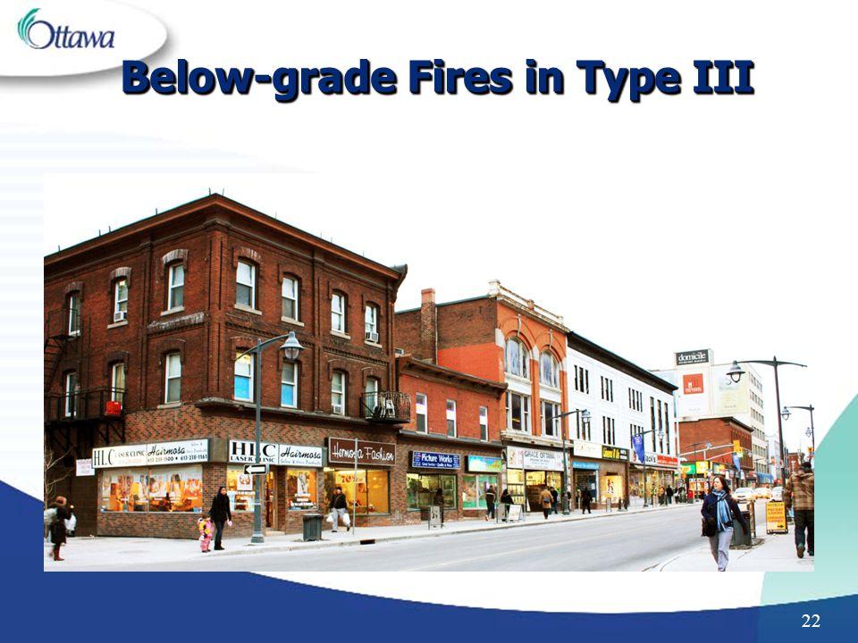 Below-grade Fires in Type III