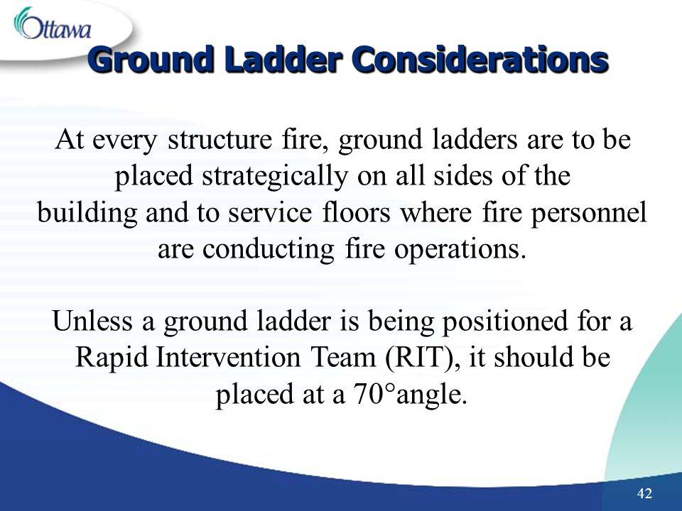Ground Ladder Considerations