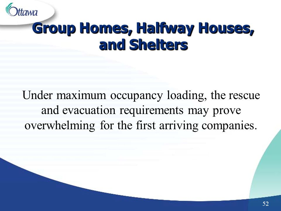 Group Homes, Halfway Houses, and Shelters