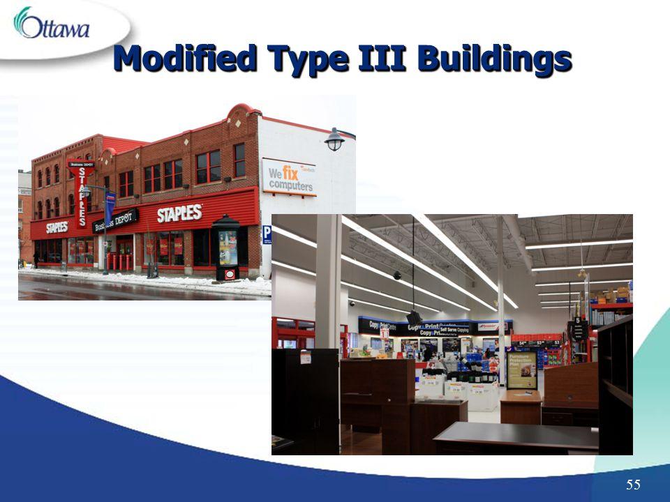 Modified Type III Buildings