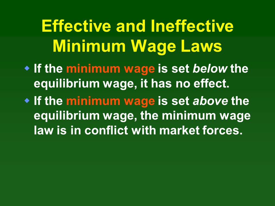 Effective and Ineffective Minimum Wage Laws