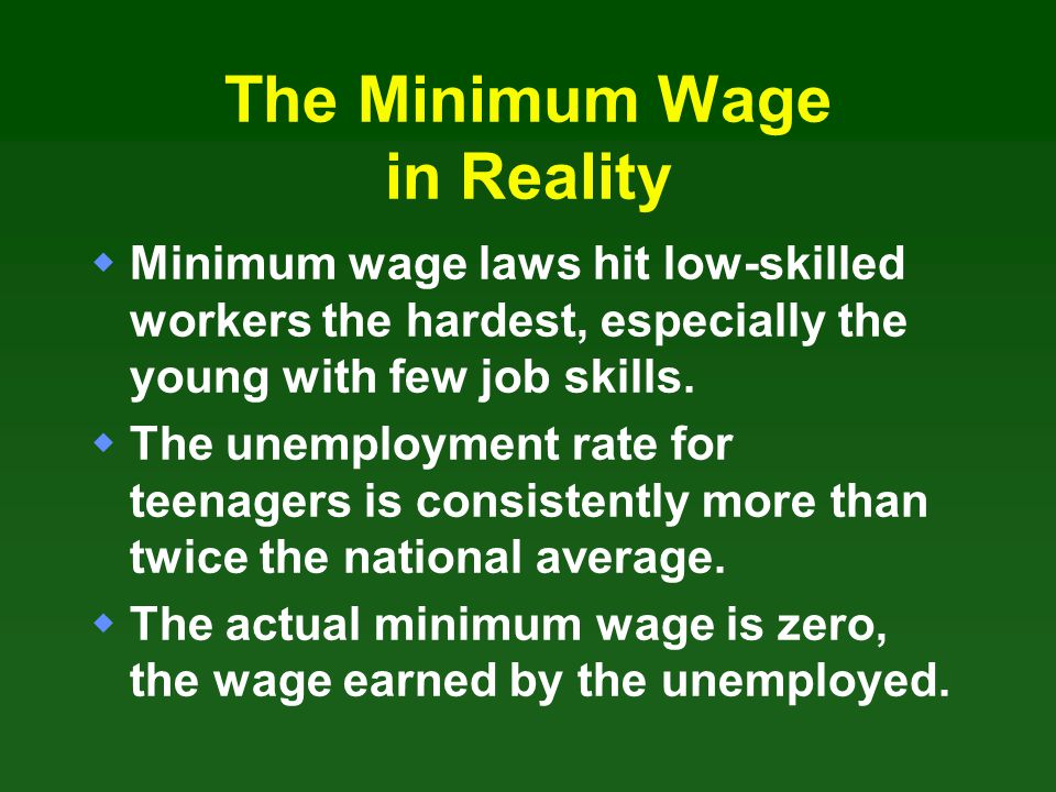 The Minimum Wage in Reality