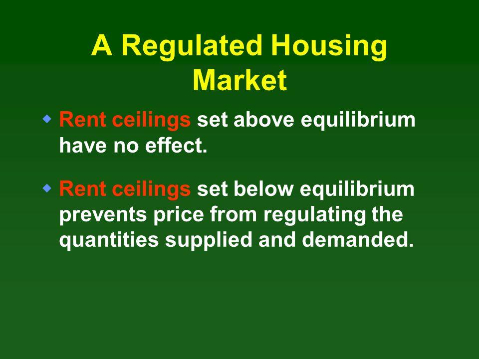 A Regulated Housing Market
