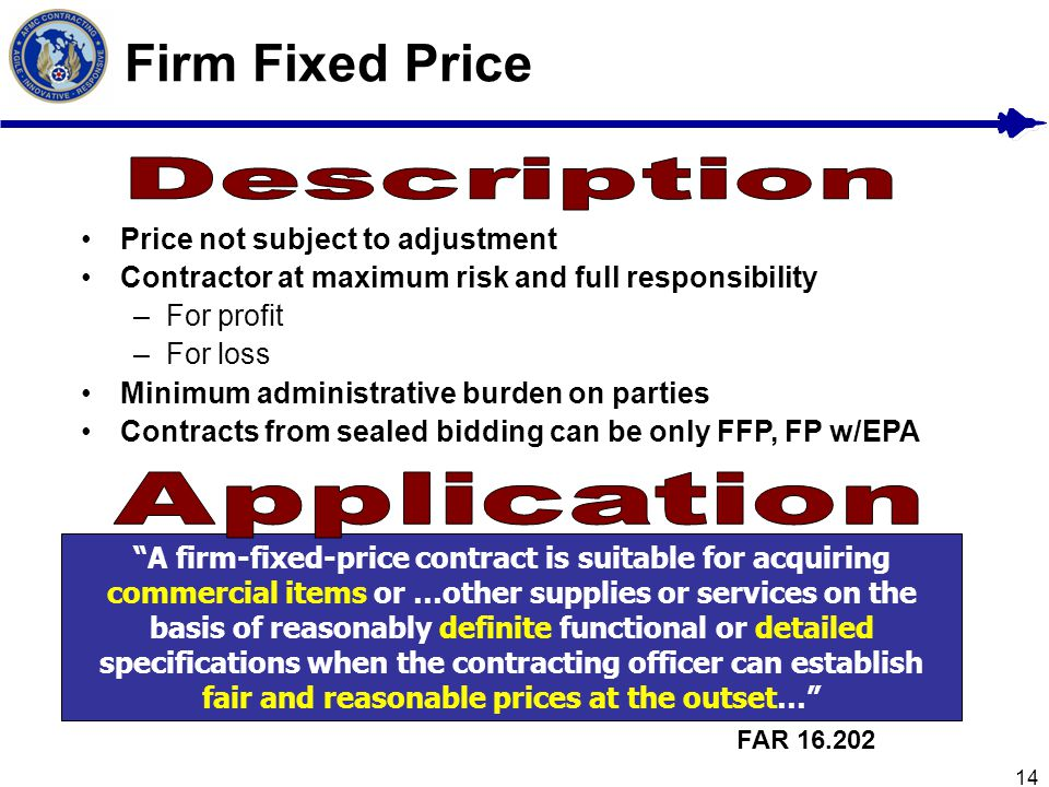 Firm Fixed Price Description Application