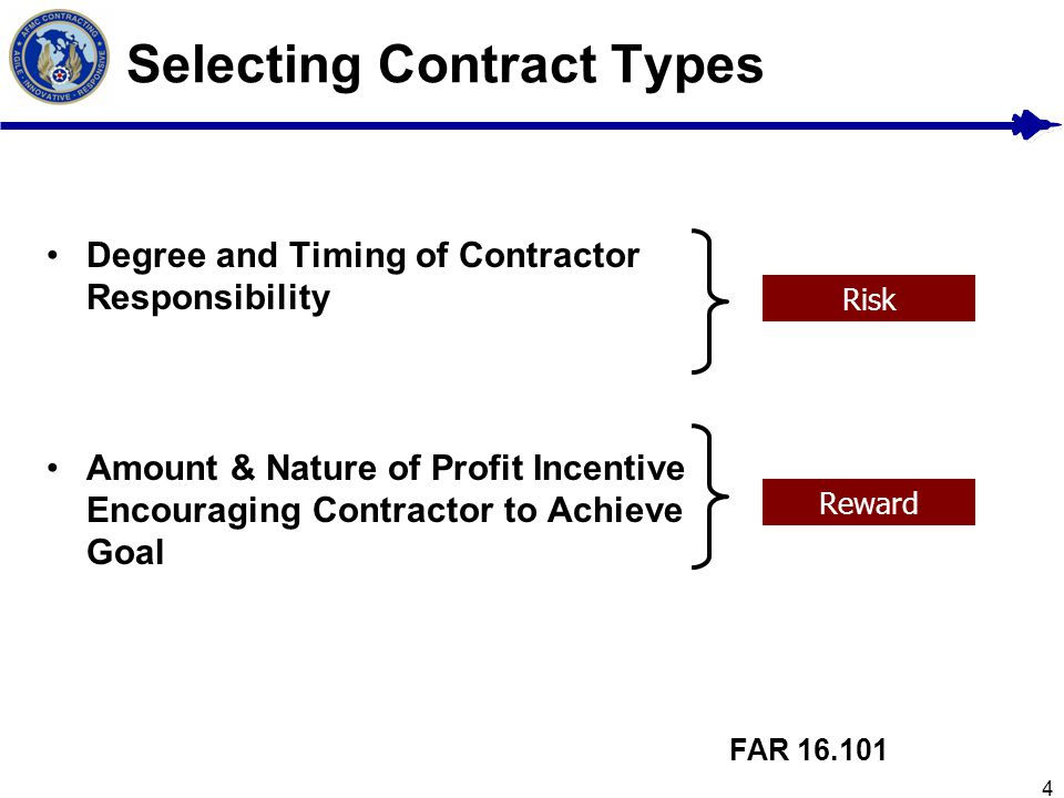 Selecting Contract Types
