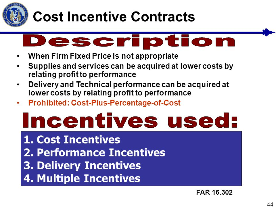 Cost Incentive Contracts
