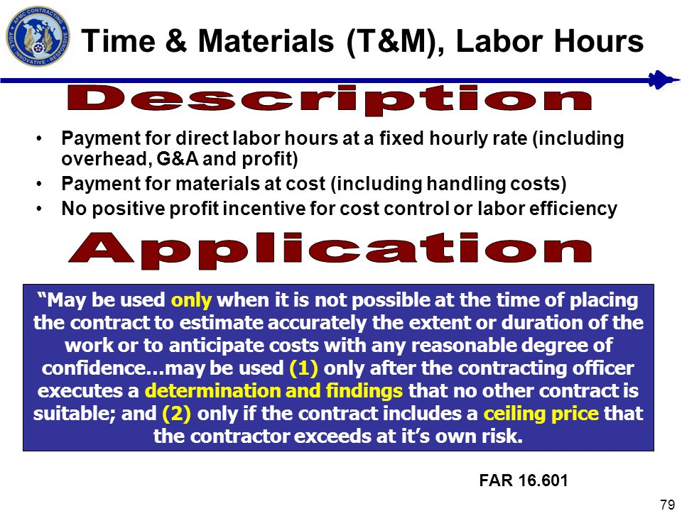 Time & Materials (T&M), Labor Hours