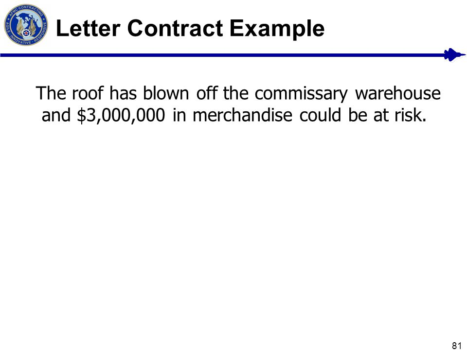 Letter Contract Example