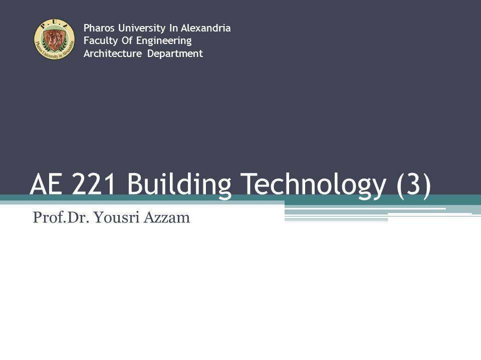 AE 221 Building Technology (3)