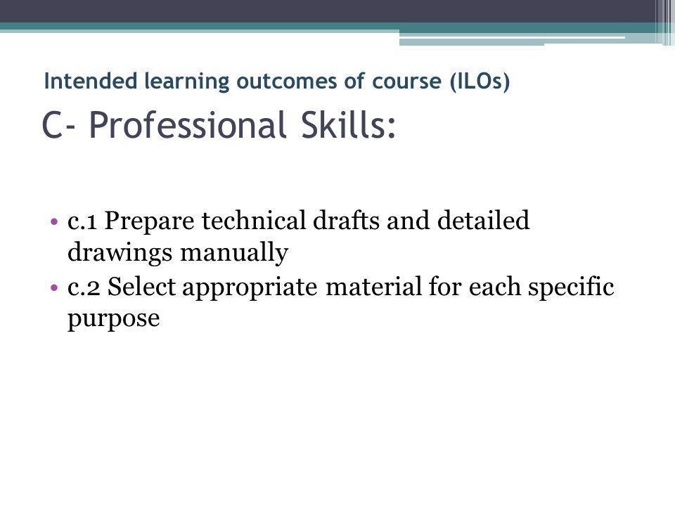 C- Professional Skills: