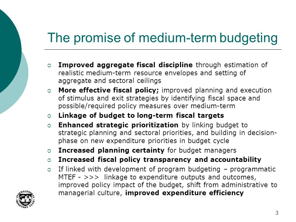 The promise of medium-term budgeting