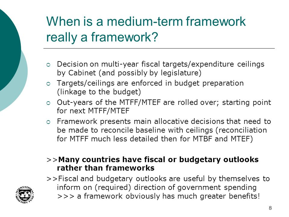 When is a medium-term framework really a framework