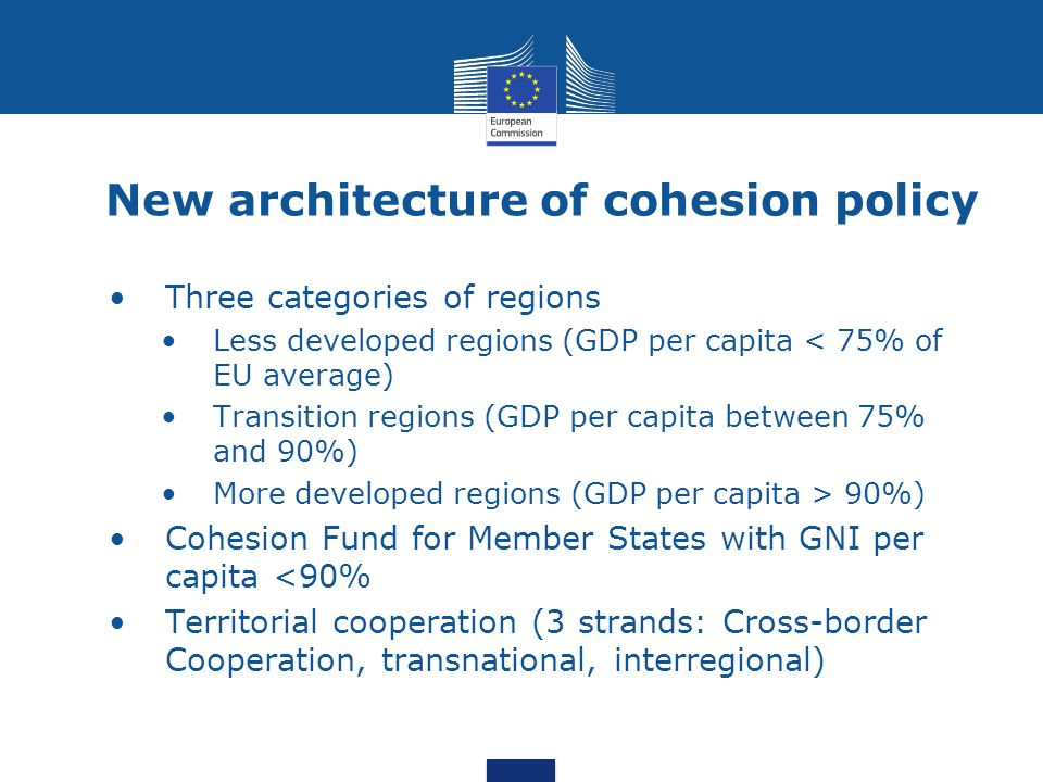 New architecture of cohesion policy