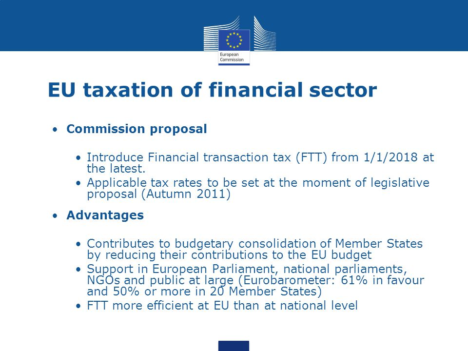EU taxation of financial sector