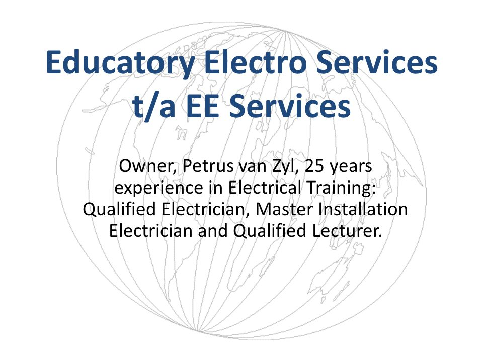 Educatory Electro Services t/a EE Services