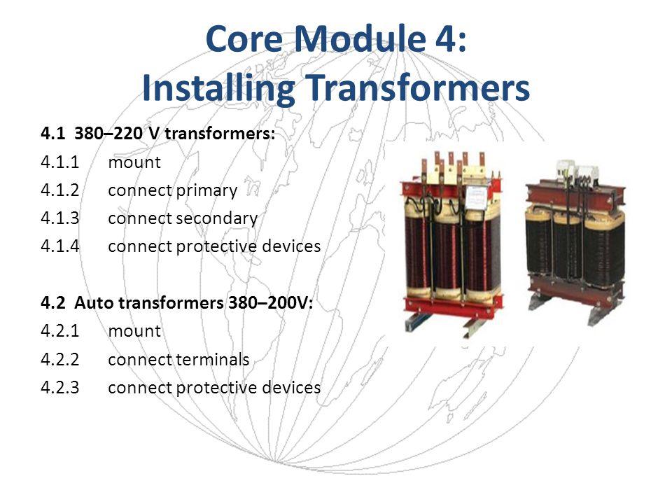Core Module 4: Installing Transformers