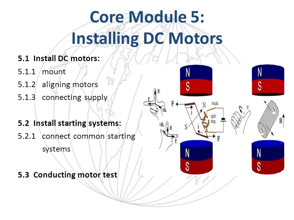 Core Module 5: Installing DC Motors