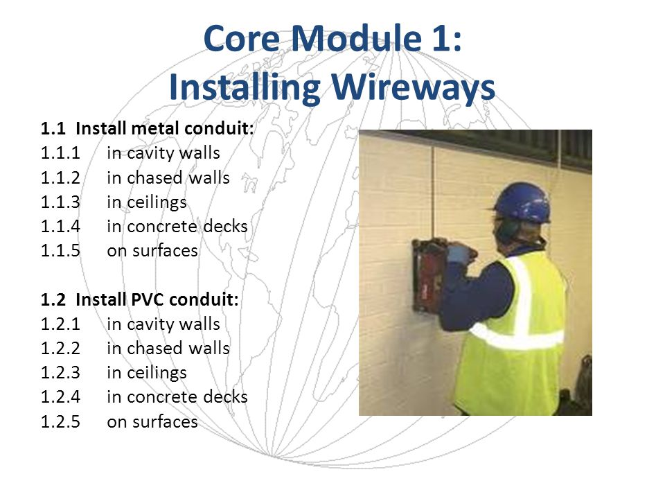 Core Module 1: Installing Wireways