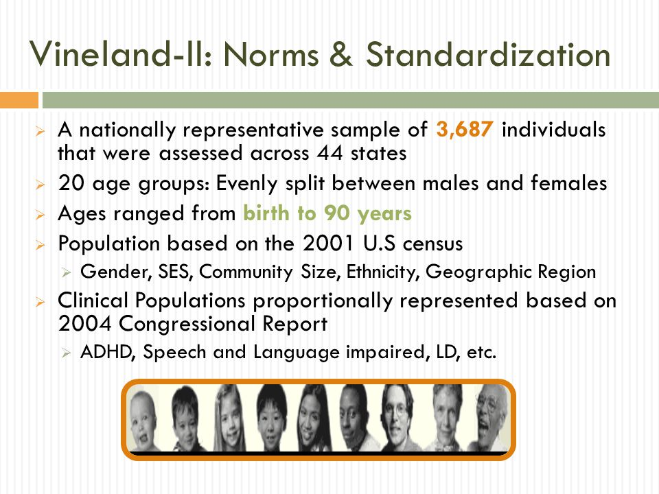 Vineland-II: Norms & Standardization