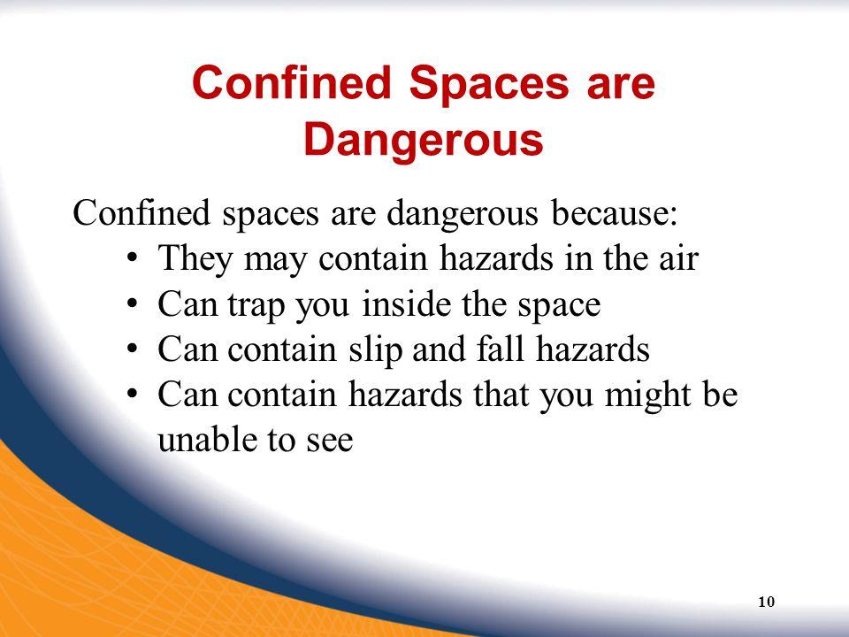 Confined Spaces are Dangerous