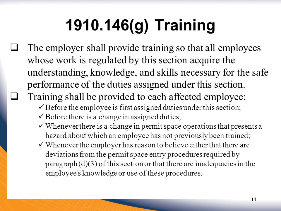 1910.146(g) Training