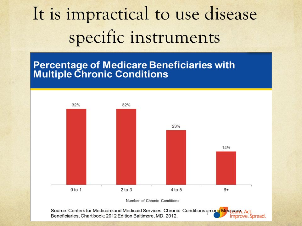 It is impractical to use disease specific instruments