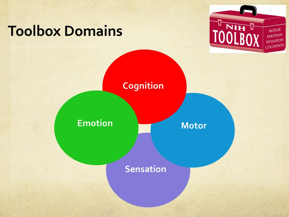 Toolbox Domains Cognition Emotion Motor Sensation