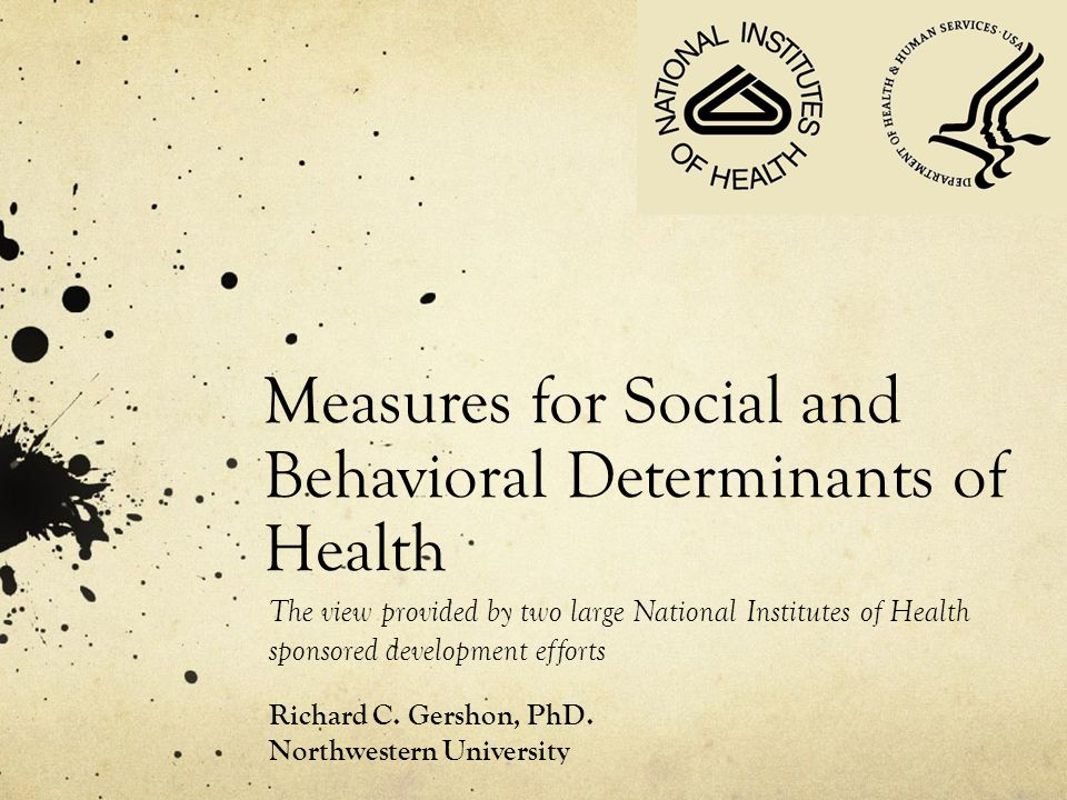 Measures for Social and Behavioral Determinants of Health
