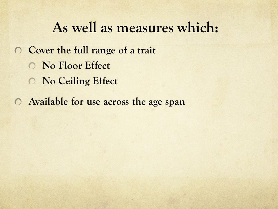 As well as measures which: