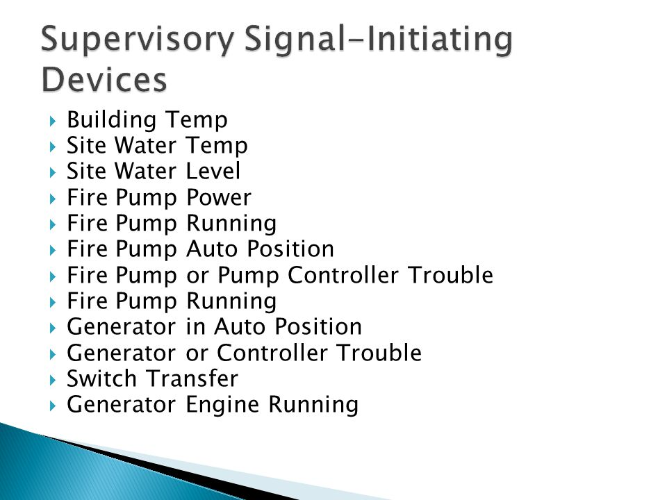 Supervisory Signal-Initiating Devices